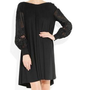 NWT YVES SAINT LAURENT YSL Lace & jersey dress
